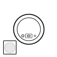 68221 Celiane Бел Лицевая панель для модуля звук. трансляции для подкл.звук. источника