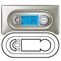 68242 Celiane Бел Лицевая панель термостата программируемого (мех. 67402)
