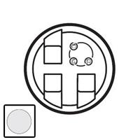 68290 Celiane Белый Накладка розетки тройной RJ45 тел/TV/инф