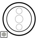 68343 Celiane Титан Накладка сенсорного светорегулятора мех 67043