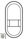 68435 Celiane Титан Лицевая панель розетки для электробритв