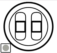 68512 Celiane Титан Накладка 2-ой аудиорозетки (2 мех 67311)