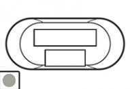 68554 Celiane Титан Лицевая панель для коммутатора на 6 портов RJ45