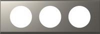 69113 Celiane Никель Велюр Рамка 3-ая (2+2+2 мод)