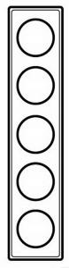 69320 Celiane Смальта Белая Рамка 5-ая (2+2+2+2+2 мод)