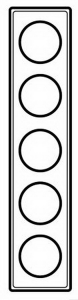 69350 Celiane Смальта Металлик Рамка 5-ая (2+2+2+2+2 мод)