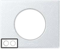69352 Celiane Фарфор Рамка Белая Феерия 2 поста (4 модуля)