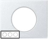 69353 Celiane Фарфор Рамка Белая Феерия 3 поста (6 модулей)