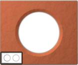 69362 Celiane Терракота Рамка 2 поста (4 модуля)