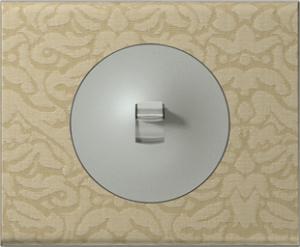 69412 Celiane Текстиль орнамент Рамка 2 поста (4 модуля)