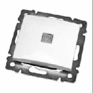 694340 DIY Valena Алюм Выключатель 1-клавишный с подсветкой