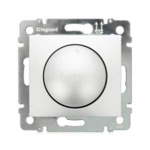 694348 DIY Valena Алюм Светорегулятор поворотный 40-400W для ламп накаливания (вкл поворотом)