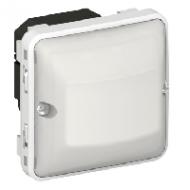 69500 Plexo Серый/Белый Мех Датчик движения Стандарт 60-300Вт для л/н 2-х пров.схема подкл-я IP55