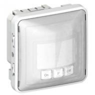 69501 Plexo Серый/Белый Мех Датчик движения Комфорт 40-400Вт для л/н 2-х пров.схема подкл-я IP55