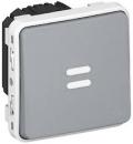 69504 Plexo Серый Мех Выключатель 1-клавишный с/п с задержкой отключения