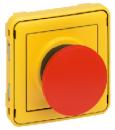 69547 Plexo Мех Кнопка экстренного откл. 1Н.З. контакт (желтая лиц. панель, красная кнопка)