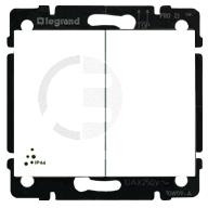 695504 DIY Galea Life Бел Выключатель 2-клавишный