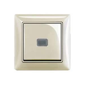 695505 DIY Galea Life Бел Выключатель кнопочный 1-клавишный, НО контакт