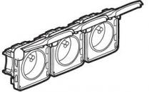 69564 Plexo Розетка горизонтальная 3п, 2К+З фр.ст.