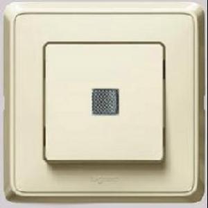 695901 DIY Cariva Крем Выключатель 1-клавишный с подсветкой