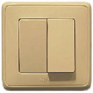 695904 DIY Cariva Крем Выключатель 2-х клавишный