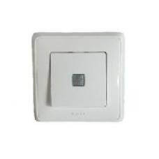 695931 DIY Cariva Бел Выключатель 1-клавишный с подсветкой