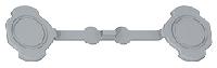69598 Plexo Серый Комплект из 4 колпачков(на винты)