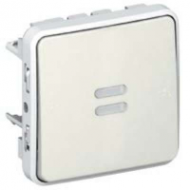 69604 Plexo Белый Мех Выключатель 1-клавишный с/п с задержкой отключения