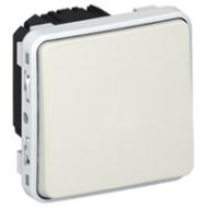 69611 Plexo Белый Мех Переключатель 1-клавишный IP55