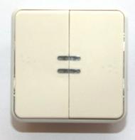 69626 Plexo Белый Мех Переключатель 2-клавишный с подсветкой IP55