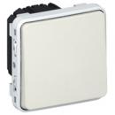 69630 Plexo Белый Мех Выключатель 1-клавишный кнопочный НО-контакт IP55