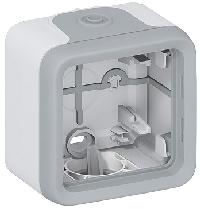 69651 Plexo Серый Монтажная коробка 1-ая для наружного монтажа IP55