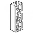 69679 Plexo Серый Монтажная коробка 3-ая для наружного монтажа,вертикальная, IP55