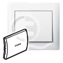 696802 DIY Galea Life Бел Выключатель 1-клавишный с подсветкой зеленая лампа 0,5 мА