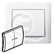 696803 DIY Galea Life Бел Выключатель 2-х клавишный с подсветкой