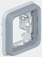 69681 Plexo Серый Рамка 1-ая с суппортом, для внутреннего монтажа IP55