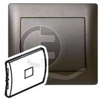 696825 DIY Galea Life Темная Бронза Выключатель кнопочный 1-клавишный, НО контакт