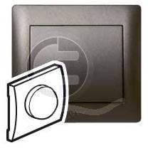 696826 DIY Galea Life Темная Бронза Светорегулятор нажимной 600Вт, л/н и г/л 230В