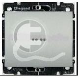 696842 DIY Galea Life Алюминий Выключатель 1-клавишный с подсветкой зеленая лампа 0,5 мА