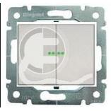 696843 DIY Galea Life Алюминий Выключатель 2-х клавишный с подсветкой
