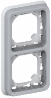69685 Plexo Серый Рамка 2-ая с суппортом,для внутреннего монтажа,вертикальная,IP55