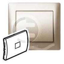 696862 DIY Galea Life Титан Выключатель 1-клавишный с подсветкой зеленая лампа 0,5 мА