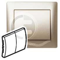 696864 DIY Galea Life Титан Выключатель 2-х клавишный