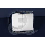 696883 DIY Galea Life Жемчуг Выключатель 2-х клавишный с подсветкой