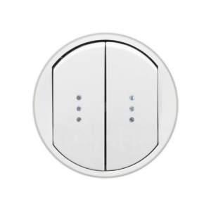 696910 DIY Celiane Бел Переключатель двухклавишный на два направления с подсветкой