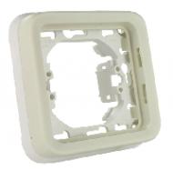 69692 Plexo Белый Рамка 1-ая с суппортом, для внутреннего монтажа IP55