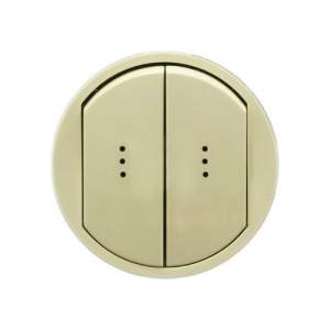 696930 DIY Celiane Беж Переключатель двухклавишный на два направления с подсветкой