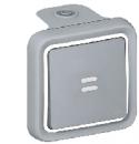 69712 Plexo Серый Переключатель 1-клавишный с индикацией, накладной, 10А, в сборе IP55