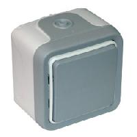 69716 Plexo Серый Переключатель промежуточный 10А