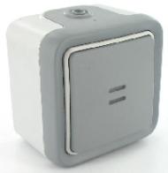 69722 Plexo Выключатель 1-клавишный кнопочный с/п (НО-контакт),накладной,10А